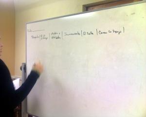 Estudiante proponiendo su Diario reflectivo